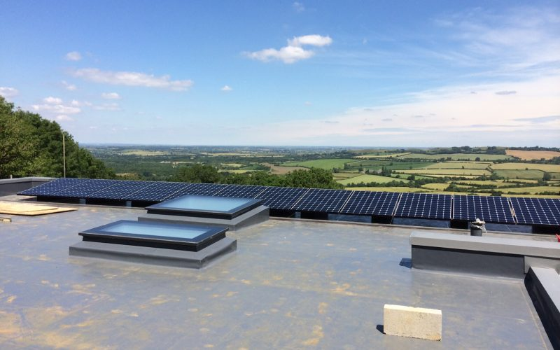 South Warwickshire Flat roof Solar