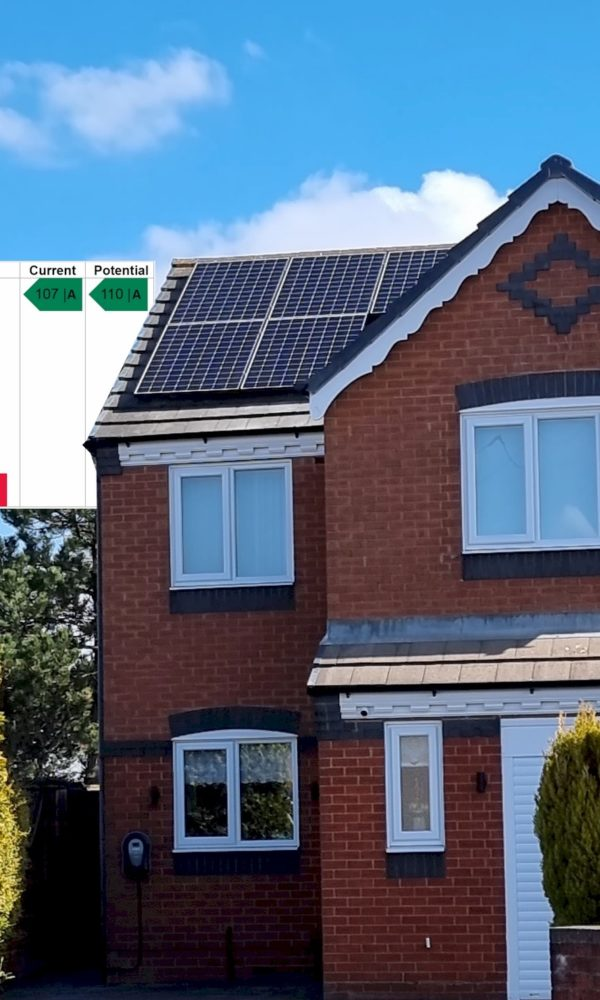 """Solar with Tesla Powerwalls results in """"A"""" Rated house"""