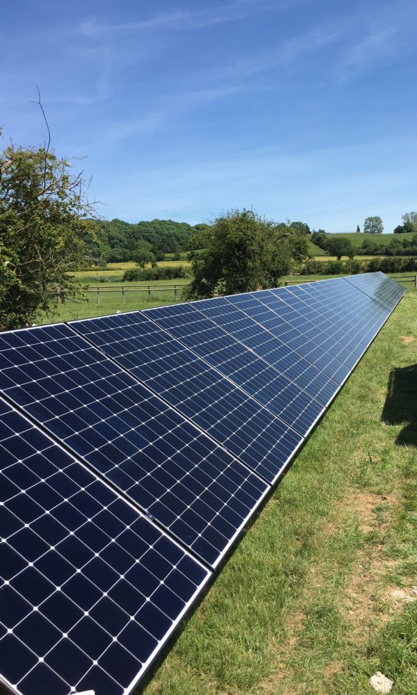 12kWp Ground Mount Solar & 40.5kWh Energy Storage, Worcestershire